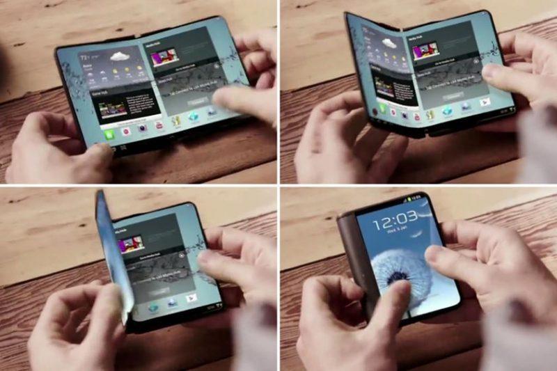 Celular com tela dobrável da Samsung