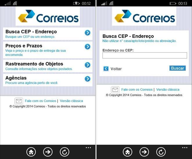 App Rastreador Correios