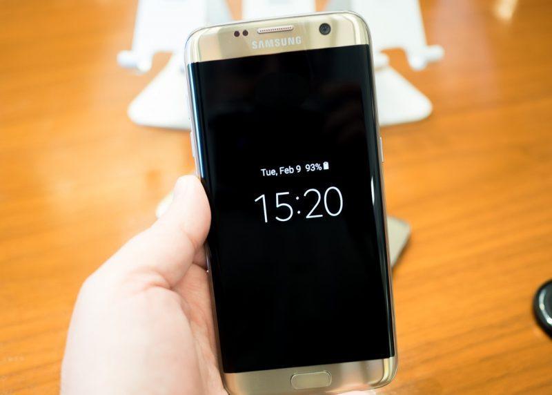 Galaxy S7 Edge com Always On